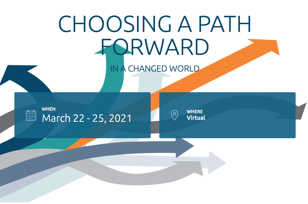 DST Advisory Group presenta at TEI Mid-Year Conference - Graphic for Choosing a path forward, colored arrows pointing in multiple directions, symbolizing change in direction