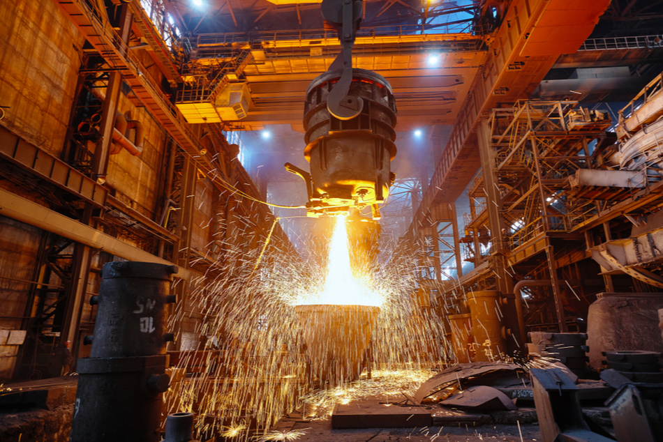 Image of steel foundry, metallurgical industry makes substantial investments in time and resources to develop and improve designs and processes, qualifying for R&E Tax Credits